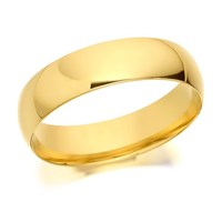 9ct Gold Extra Heavyweight Court Wedding Ring - 6mm - R5286-Z