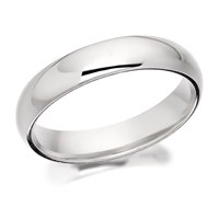 9ct White Gold Extra Heavyweight Court Wedding Ring - 4mm - R5584-P