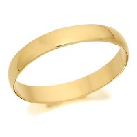 18ct Gold D Shaped Wedding Ring - 3mm - R56113-K