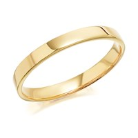 9ct Gold Flat Court Wedding Ring - 2.5mm - R5704-M