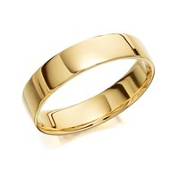 9ct Gold Flat Court Wedding Ring - 5mm - R5705-Z