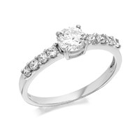9ct White Gold Cubic Ziconia Ring - R5915-Q