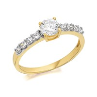 9ct Gold Cubic Zirconia Ring - R5916-Q