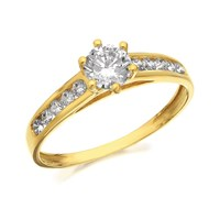 9ct Gold Cubic Zirconia Ring - R6553-K