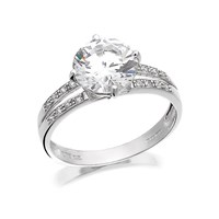 9ct White Gold Cubic Zirconia Ring - R6566-O