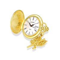 Jean Pierre G554 Gold Plated Hunter Pocket Watch And Chain - W0189