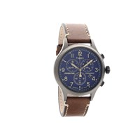 Timex TW4B09000 Expedition Chronograph Brown Leather Strap Watch - W04178