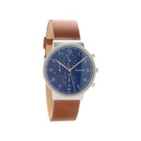 Skagen SKW6358 Ancher Chronograph Brown Leather Strap Watch - W05106