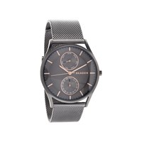 Skagen SKW6180 Holst Grey Ionic Finish Mesh Strap Watch - W0694