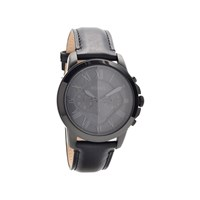 Fossil FS5132 Grant Chronograph Black Leather Strap Watch - W07108