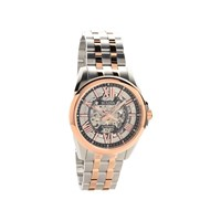 Bulova 98A166 Two Tone Automatic Skeleton Dial Bracelet Watch - W0962