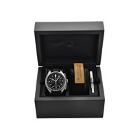 Bulova 96B251 Lunar Chronograph Black Leather Strap Watch - Special Edition - W0963