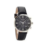 Bulova 96B262 Aerojet Chronograph Black Leather Strap Watch - W0976
