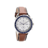 Fossil CH3029 Sport 54 Stainless Steel Chronograph Brown Leather Strap Watch - W10100