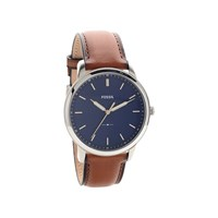 Fossil FS5304 The Minimalist Dark Tan Leather Strap Watch - W10106