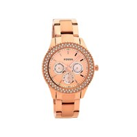 Fossil ES3590 Stella Rose Gold Plated Stone Set Bracelet Watch - W1031