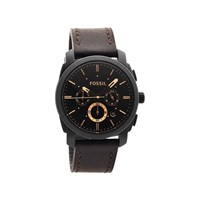 Fossil FS4656 Machine Chronograph Brown Leather Strap Watch - W1062