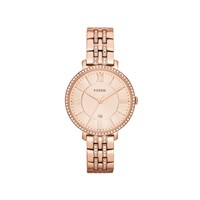 Fossil ES3546 Jacqueline Rose Gold Plated Stone Set Bracelet Watch - W1071
