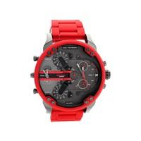 Diesel DZ7370 Mr Daddy 2.0 Chronograph Red Silicon Strap Watch - W11108