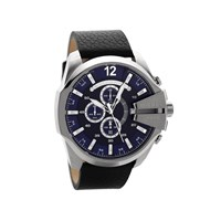 Diesel DZ4423 Mega Chief Chronograph Black Leather Strap Watch - W11109