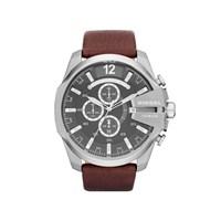 Diesel DZ4290 Master Chief Chronograph Brown Leather Strap Watch - W1119