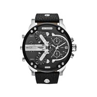 Diesel DZ7313 Mr Daddy 2.0 Chronograph Black Leather Strap Watch - W1192
