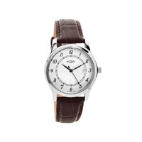 Rotary GS00792/22 Stainless Steel Brown Leather Strap Watch - W1209
