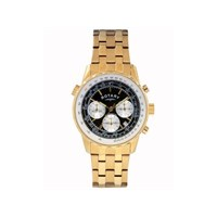 Rotary GB00114/04 Gold Plated Chronograph Bracelet Watch - W1254