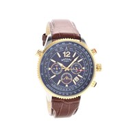 Rotary GS00662/05 Pilot Style Two Tone Brown Leather Strap Watch - W1277