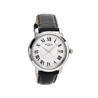 Rotary GS02880/06 Stainless Steel Black Leather Strap Watch - W1309