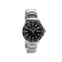 Rotary GB05017/04 Stainless Steel Black Dial Bracelet Watch - W1335