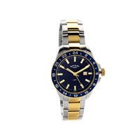 Rotary GB05082/05 Havana GMT Two Tone Bracelet Watch - W1336