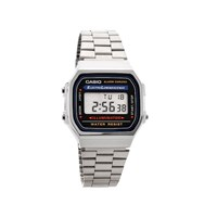Casio A168WA1YES Classic Stainless Steel LCD Alarm Chronograph Bracelet Watch  W1756