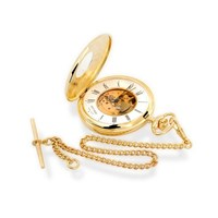 Jean Pierre G170 Gold Plated Mechanical Pocket Watch And Chain - W2243