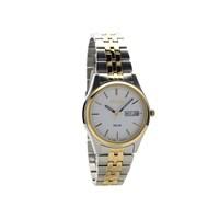 Seiko SNE032P1 Two Tone Solar Powered Bracelet Watch - W2414