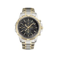 Seiko SSC142P1 Two Tone Solar Chronograph Bracelet Watch - W2438