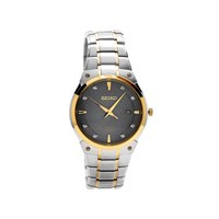 Seiko SNE430P9 Two Tone Solar Diamond Set Bracelet Watch - W2494