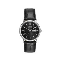 Citizen BM8240-03E Stainless Steel Eco-Drive Black Leather Strap Watch - W3715