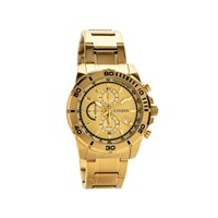 Citizen AN3492-50P Gold Plated Chronograph Bracelet Watch - W3759