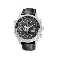 Citizen CA0080-03E Red Arrows Stainless Steel Eco-Drive Black Leather Strap Watch - W3817