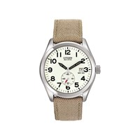 Citizen BV1080-18A Stainless Steel Eco-Drive Khaki Fabric Strap Watch - W3827