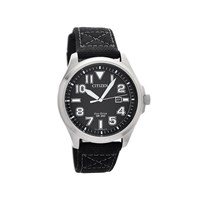 Citizen AW1410-08E Military Stainless Steel Eco-Drive Black Fabric Strap Watch - W3894