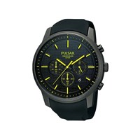Pulsar PT3193X1 Black Ionic Finish Resin Strap Watch - W4227