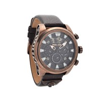 Police 14473JSQBZ/02 Mephisto Chronograph Brown Leather Strap Watch - W4374