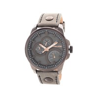 Police Navigator Brown Leather Strap Watch - W4476