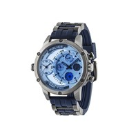 Police Adder Chronograph Blue Resin Strap Watch - W4477