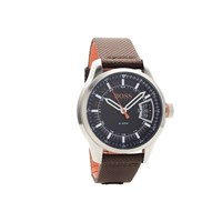 Hugo Boss Orange 1550002 Stainless Steel Brown Canvas Strap Watch - W45114