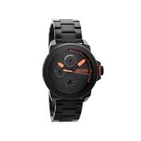 Hugo Boss Orange 1513157 Black Ion Plated Chronograph Bracelet Watch - W4538