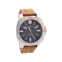 Hugo Boss Orange 1513294 Sao Paulo Stainless Steel Brown Leather Strap Watch - W4556