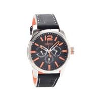 Hugo Boss Orange 1513228 Black Leather Strap Watch - W4565